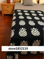 Wholesale Pink Jacquard Bedspread - hot Baby children's INS Black bottom cross Pineapple blanket Cotton double sided knitted safa BedSpread Bath large size
