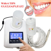Wholesale tube pick - Portable Dental Ultrasonic Scaler push button control Handpiece Tube Connection Detachable whith two bottles and 6 working tips YS-CS-B