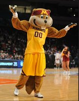 Wholesale Christmas Party Outfit Characters - OISK Minnesota Golden Gophers Goldy the Gopher Mascot Costumes Character Christmas Birthday Party Carnival Outfit