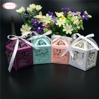 Wholesale Cutting Food Box - Wholesale- 50pcs laser cut butterfly vine wedding favor box candy chocolate packaging wedding gifts for guests decoration boda