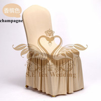 Wholesale Lycra Ruffled Chair Covers - Hot Sale Bottom Ruffled Lycra Spandex Chair Cover For Wedding