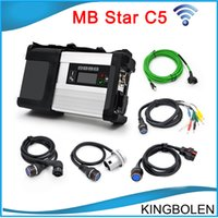 Wholesale Mb Star Truck - 2017 Newly MB Star C5 wifi MB SD Connect Compact 5 Diagnostic tool for Mercedes benz Newest V2016.03 in 500MB HDD for Cars and Trucks
