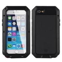 Wholesale Iphone Corning Gorilla - For iphone 6s Plus 6 Plus 5 5s 5c SE Case Extreme Aluminum Silicone Corning Gorilla Glass Waterproof Shockpoof Dustproof Fingerprint Cover