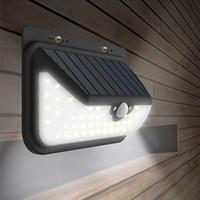 alojamiento del controlador al por mayor-Luces de pared LED PIR solares 800LM 68LED Jardín Balcón Lámparas Exterior Impermeable Pasillo Casa Estacionamiento Iluminación Sensor de movimiento Control remoto