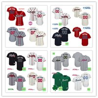 Wholesale Day Mother - Custom 2017 Atlanta Braves Jersey Men Women Youth Cool Base Flexbase Home Memorial Day Mother Day Baseball jersey size S-6XL