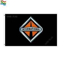 Wholesale Banner Truck - GoodFlag Free Shipping International Truck Black flags banner 3X5 FT 90*150CM Polyster Outdoor Flag