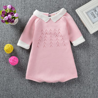 Wholesale Rompers For Boy Toddlers - Hug Me Baby Rompers Christmas Knitting Sweater 2016 Autumn Winter Boys, Girls Cute Sweater Fashion Romper for Infant Toddler Clothing ER-267