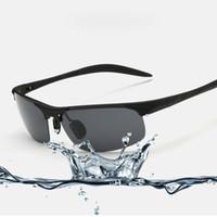 Wholesale Shot Glass Cool - New fashion Aluminum Magnesium Polarized Sport Sunglasses For Police Biker Driver Cool Shooting Glasses For Men Women 8177