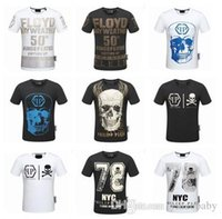 Wholesale Skull Printed Shirt Girl - Have logo ! New Fashion women and men T-Shirt Polos Students Short sleeve Casual Tee skull Brand Boys girls Casual Tee shirt Tops