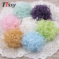 100g / bag DIY Paper Raffia Shredded Crinkle Paper Confetti Presentes / Box Material de enchimento Aniversário / Wedding Party Decoration Supplies