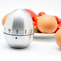 Wholesale Egg Timers - 2016 new Egg Stainless Steel 60,Minute Kitchen Timer,Silver Manufacturers supply, high quality free shipping