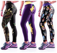 Wholesale Skull Queen - Cartoon Yoga Pants Fashion Pharaoh Zombie Evil Queen Trousers Skyscape Galaxy Birds Skull Hundreds Faces Leggings Elastic LNASlgs