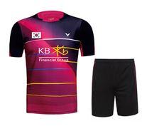 Wholesale badminton uniforms - New Victor Korea Badminton wear Men's with KB flag , Women's badminton clothes , Badminton uniforms , sportswear sets 36160