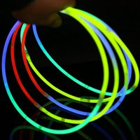 58cm Long Glow Sticks Necklaces Party Флуоресцентные неоновые цвета Xmas Party Wedding Christmas Concert Decoration wen4429