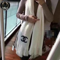 Wholesale Weaving Warp - Good Quality New Women Weaving Pattern Scarf Solid Grid Plaid Wrap Wool Crochet Shawls Thick Chunky Unsex Knitting Scarf Warp 180*40cm
