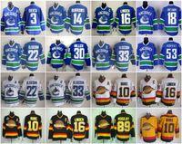 Wholesale Hockey Jerseys 22 - Ice Hockey Jerseys Vancouver Canucks 3 Kevin Bieksa 22 Daniel Sedin Throwback 30 Miller 33 Henrik Sedin 10 Pavel Bure 16 Trevor Linden