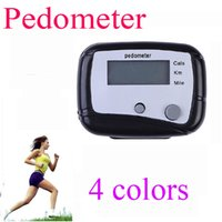 Pedometers blue calculators - 2 buttons Electronic Digital LCD Step Run Pedometer Walking Distance Calorie Counter Portable and Durable Walk Calculator