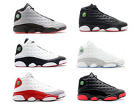 Wholesale Game Trainers - Playoff Dirty Bred Retro XIII 13s mens basketball shoes sneaker grey toe outdoor sports athletic trainer He Got Game Retros 13 INFRARED 23