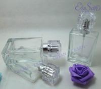 Wholesale New Glass Perfume Spray Bottles - 100PCS Brand New Glass Spray Bottle 30ML Transparent Spray Bottle Empty Refillable Perfume Spray Bottles Atomizer