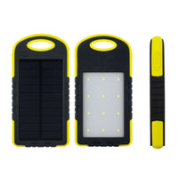 Wholesale Led Flashlight Phone Charger - 8000mAh Solar Charger Solar Power Bank Waterproof Solar Panel Battery Chargers with LED Camping flashlight ourdoor lamp