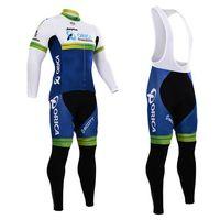 Wholesale Jayco Cycling - 2017 pro Team Jayco Orica cycling jersey cycling clothing ropa ciclismo long sleeve MTB bike cycle jersey with cycling bib pants