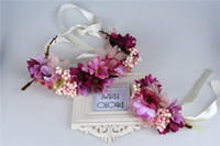 Wholesale Wholesale Jewelry Shopping Bracelets - Children's garlands new foam fruit shop selling jewelry wearing flowers garlands bracelet studio photography hair accessories A8358