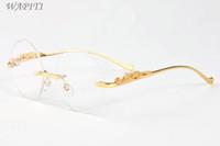 óculos transparentes venda por atacado-Rodada Óculos de Armação Lentes Claras 2017 Marca Designer Rodada Óculos De Sol Para Homens óculos de sol Shades Mulheres Revestimento Sem Aro Búfalo óculos de Sol
