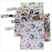 Wholesale Baby Wet Dry Cloth Diaper - Baby Diaper Bags Portable Nappy Stackers Wet Dry Cloth Storage Bag Zipper Waterproof Diaper Bag Infant Nappy Stacker Bag Cart Bags B2645