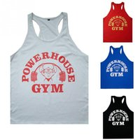Wholesale Wholesale Printing Equipment - Wholesale-Mens Tank Tops Bodybuilding Equipment Fitness Brand Gym Singlets Men\'s GYM Tank Shirts Sports Clothes