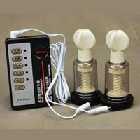 ingrosso terapia del massager di scossa elettrica-Scossa elettrica Cupping Seno Massaggiatore seno capezzolo Ingranditore del seno Capezzoli sottovuoto Pulse Therapy Therapy Coppe per le donne A14