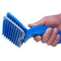 cepillo deshidratante al por mayor-Único removedor de pelo automático para mascotas Pet Massage Brush Grooming Supply Pet Comb Fácil de usar Botón con un solo clic Deshedding Tool para perro gato mascota