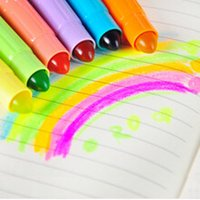 Wholesale Large Sweet Boxes - Wholesale-Sweet Candy Color Large Capacity Solid Highlighter Markers Fluorescent Pen Markers Glitter Gift Stationery