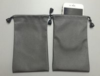Wholesale Waterproof Bank Bag - 25Pcs Lot Waterproof Small Gray Drawstring Bag Pouch Collecting Wedding Gift Bag For Jewelry Power Bank Mobile Phone