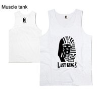 Wholesale Stylish Vests For Men - Last kings tank top vest for men blouse free shipping new design Lastkings mens tee shirt hot sale stylish hip hop tank muscle free shippin