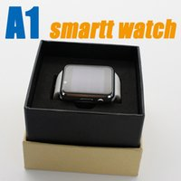 Wholesale Smart Phone Remote Support - A1 Smart Watch Bluetooth Smartwatch Phone Support SIM TF Card Smart Watches With Silicone Strap Smartphone for HTC VS DZ09 U8 GT08