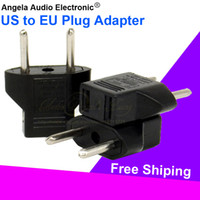 Wholesale Plugs Europe - Wholesale Quality Black Universal US to EU Plug USA To Euro Europe Travel Wall AC Power Charger Charging Converter Adaptor Socket