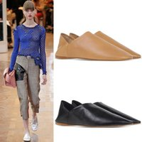 2016Summer Extreme Light Natural Touch Accogliente 100% pelle di pecora scarpe casual Donne Super Pointed Toe Flats Donne Concise TAE Soft Ladies Creepers