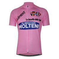 equipo ciclismo jersey rosa manga larga al por mayor-MOLTENI Pink Pro Team Ciclismo Jersey manga larga Ciclismo Maillot ctricota ciclismo para hombre larga Jersey Ropa MTB 2019