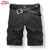 Wholesale New Arrival Men S Military - Wholesale-Men Cargo Shorts Military Trainning Outdoor Camouflage Shorts 2016 New Arrival Multi Pockets Casual Shorts Plus Size 6 Colors