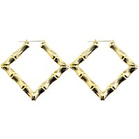 Wholesale Large Bamboo Earrings Wholesale - Wholesale-MMS Hot Rihanna Basketball Wives Gold Silver Tone Heart Star Bamboo Joint Hoop Earrings Jewelry ,Large hoop Earrings