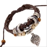 Wholesale Men S Fashion Accessories - Small wholesale Boutique PU leather accessories Jewelry Unisex Bracelet For men,s  women's Fashion Bracelet.AA