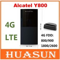 alcatel eine berührung freies verschiffen großhandel-DHL EMS freies Verschiffen 100Mbps Alcatel One Touch Y800 4G LTE FDD Wireless Router 3G 4G Mobiler WiFi Hotspot