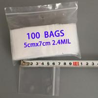 kleine verpackungsklarbeutel groihandel-100 stücke 5x7 cm CLEAR SMALL ZIP LOCK KUNSTSTOFFBEUTEL REISSVERSCHLUSS WIEDERVERWENDBARER SCHMUCK VERPACKUNGSBEUTEL GESCHENKTASCHE MINI TASCHE