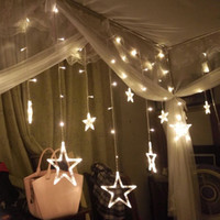 Wholesale String Lightings - Curtain Star Fairy String Lights Xmas New Year Decoration Led Lights Pink Purple Red RGB Home Decor Party String Lightings