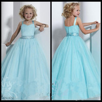 Wholesale Sweetheart Neckline Communion Dress - 2016 New Arrival Sweetheart Neckline Cute Shoulder Straps Ball Gown Flower Girl Dresses Beading Organza Floor-Length Pageant 2016