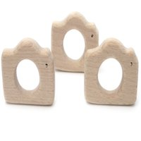 Wholesale Diy Toy Camera - DIY Baby Teether Toys Camera Shape Charms For Infant Toy Molar Tooth Eco-friendly Wood Teething Holder Accessories