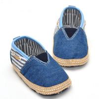 Wholesale Baby Prewalker Shoes Brand - Brand new fashion Baby prewalker infant toddler slip-on shoes baby soft bottom espadrilles shoe infant casual canvas shoes loafer 1-2T 46xt
