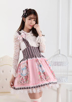 Wholesale Japanese Princess Costumes - Wholesale-Japanese Style Lovely Princess Lolita Alice's Rose Garden Printed Jumper Skirt  JSK Dress for Women