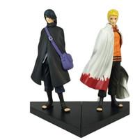 ingrosso naruto giocattoli gratis-Naruto Figure Uzumaki Naruto e Uchiha Sasuke Action PVC Figure Giocattoli Bambole modello 16cm Grande regalo spedizione gratuita
