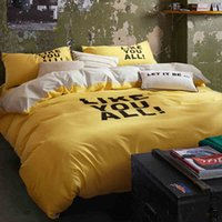 Wholesale Sheets Set For Cheap - Duvet Cover Time-limited 4 Pcs for Queen Full Null Home All Bed Sheet 2016 New Arrival Cheap 100% Cotton Simple Solid 4 Pieces Bedding Sets